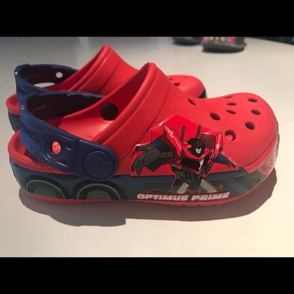 fb7e7509d5 CROCS Other - Crocs Crocband Transformers Optimus Prime Kids